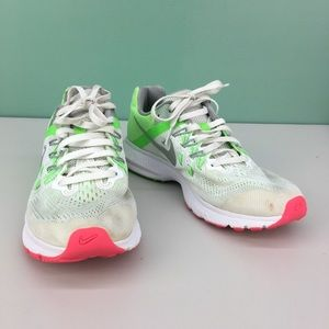 Nike Zoom Winflo 2 White  Lime Green Running Shoes